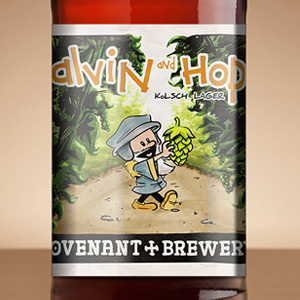 Calvin and Hops Bottle Labels